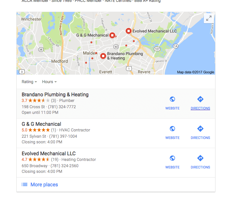 get listed on the google local 3 pack